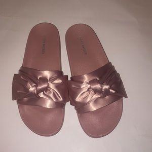 Steve Madden Silky Slide bow sandals size 10 pink